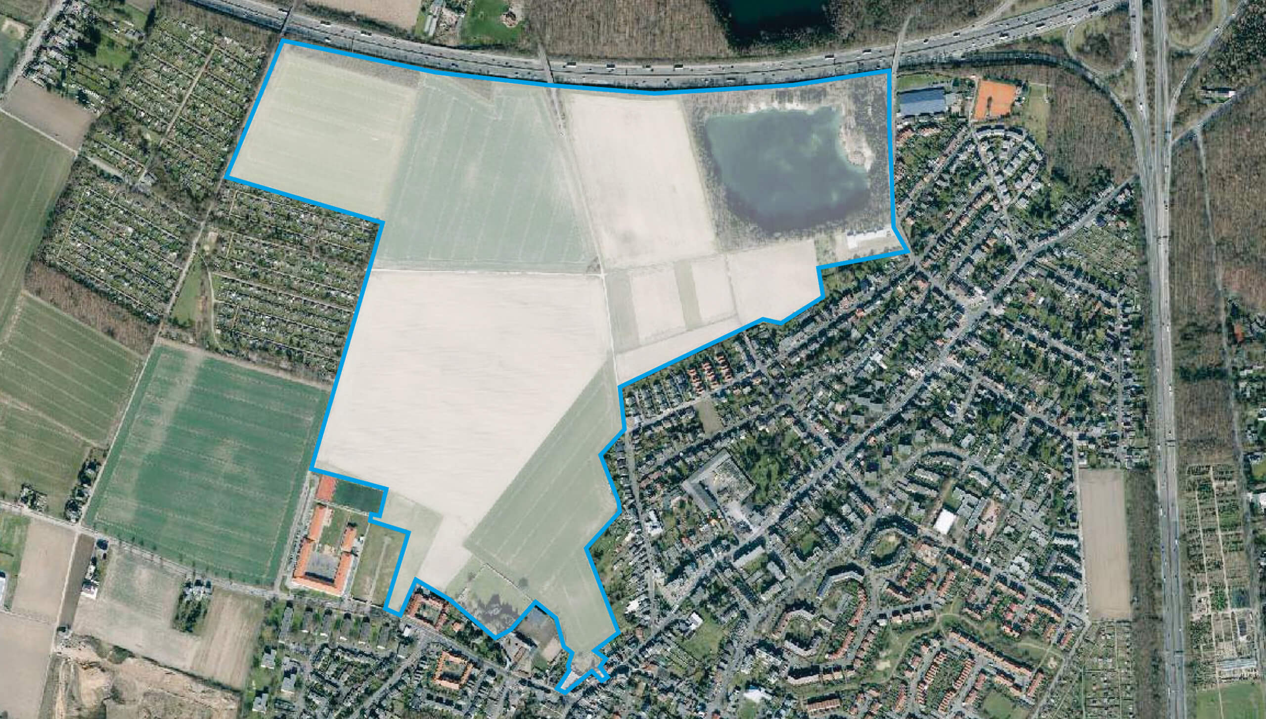Beratung Dorfgemeinschaft Rondorf, Luftbild Planungsgebiet